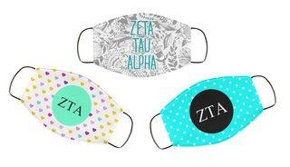 Zeta Tau Alpha Face Mask Trio Set