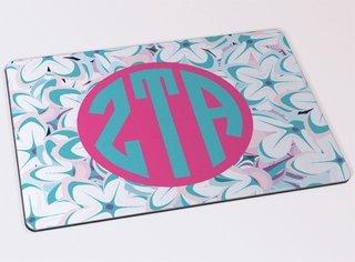 Zeta Tau Alpha Floral Mousepad