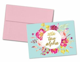 Zeta Tau Alpha Floral Spray Notecards(6)