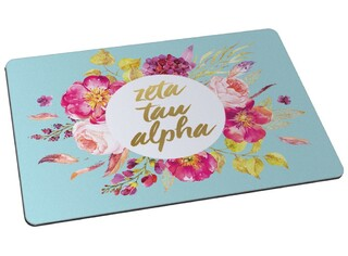 Zeta Tau Alpha Floral Spray Mousepad