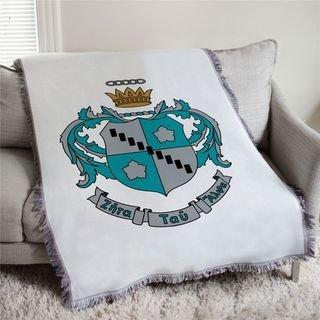 Zeta Tau Alpha Full Color Crest Afghan Blanket Throw