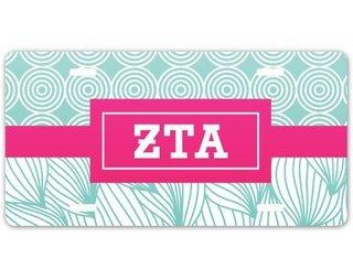 Zeta Tau Alpha Geometric License Plate