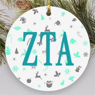 Zeta Tau Alpha Holiday Cheer Ornaments