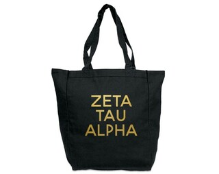 Zeta Tau Alpha Gold Foil Tote bag