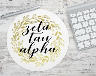 Zeta Tau Alpha Gold Wreath Mousepad