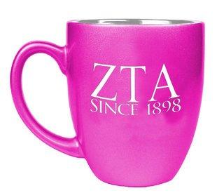 Zeta Tau Alpha Greek Bistro Mug