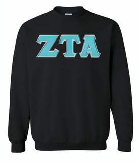 Zeta Tau Alpha Greek Crewneck- MADE FAST!