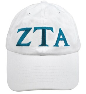 Zeta Tau Alpha Greek Letter Hat