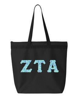 Zeta Tau Alpha Greek Letter Liberty Bag