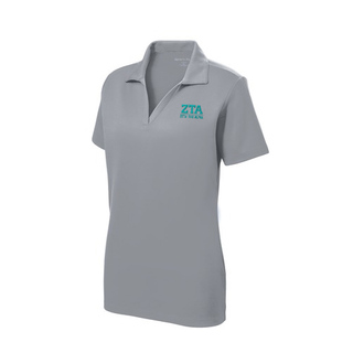 Zeta Tau Alpha Greek Letter Polo Shirts