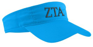 Zeta Tau Alpha Greek Letter Visor