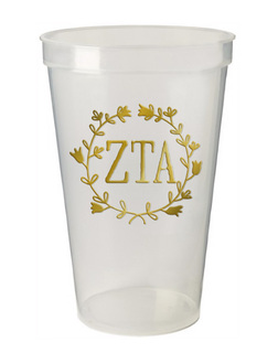 Zeta Tau Alpha Greek Wreath Giant Plastic Cup