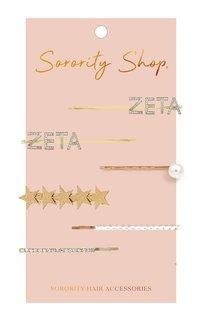 Zeta Tau Alpha Hair Clips