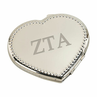 Zeta Tau Alpha Heart Shaped Classic Compact