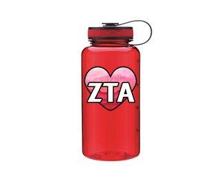 Zeta Tau Alpha Heart Wide Mouth Water Bottle