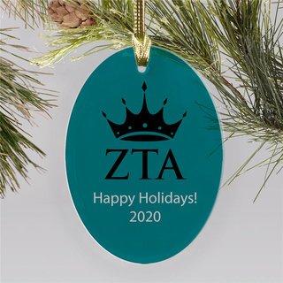 Zeta Tau Alpha Holiday Color Mascot Christmas Ornament
