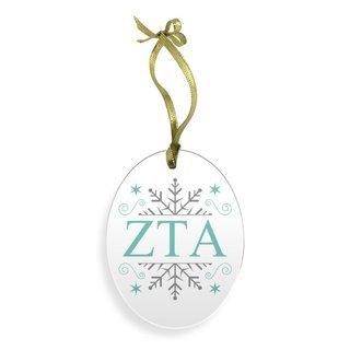 Zeta Tau Alpha Holiday Color Snowflake Christmas Ornament