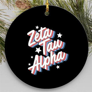 Zeta Tau Alpha Holiday Flashback Ornaments
