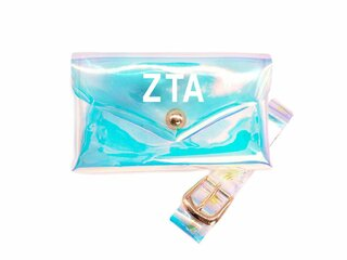 Zeta Tau Alpha Holographic Belted Fanny Pack