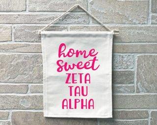 Zeta Tau Alpha Home Sweet Home Banner