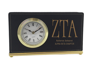 Zeta Tau Alpha Horizontal Desk Clock