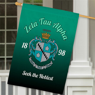Zeta Tau Alpha House Flag