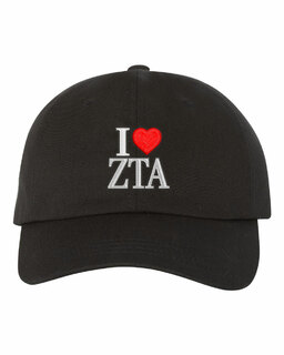 Zeta Tau Alpha I Love Hat