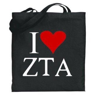 Zeta Tau Alpha I Love Tote Bags