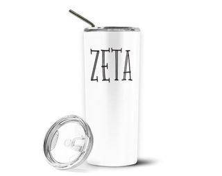 Zeta Tau Alpha Inline Stainless Tumbler