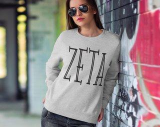 Zeta Tau Alpha Inline Sweatshirt