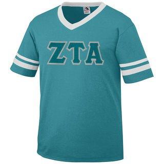 DISCOUNT-Zeta Tau Alpha Jersey With Greek Applique Letters