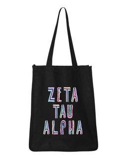Zeta Tau Alpha Jumbo All In Tote Bag