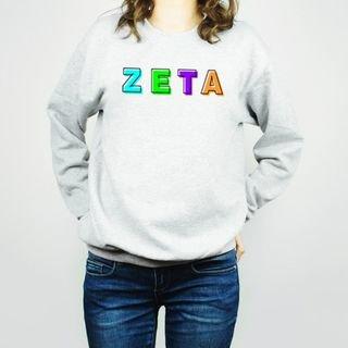 Zeta Tau Alpha Leah Crew Sweatshirt