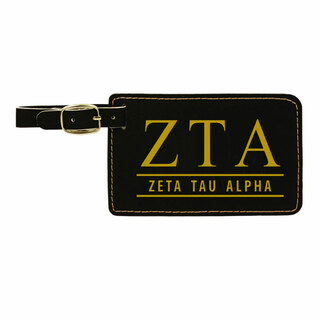 Zeta Tau Alpha Leatherette Luggage Tag