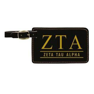 Zeta Tau Alpha Leatherette Luggage Tag