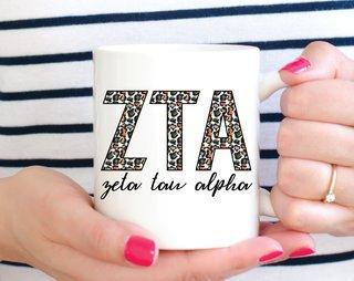 Zeta Tau Alpha Leopard Mug