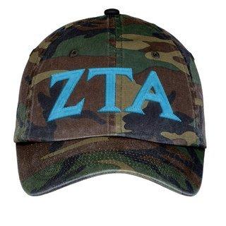 Zeta Tau Alpha Lettered Camouflage Hat