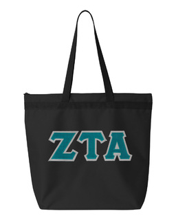DISCOUNT-Zeta Tau Alpha Lettered Game Day Tote