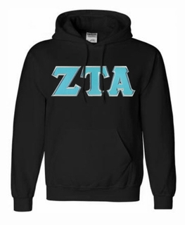 Zeta Tau Alpha Lettered Greek Hoodie- MADE FAST!