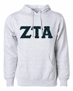 Zeta Tau Alpha Lettered Independent Trading Co. Hooded Pullover Sweatshirt