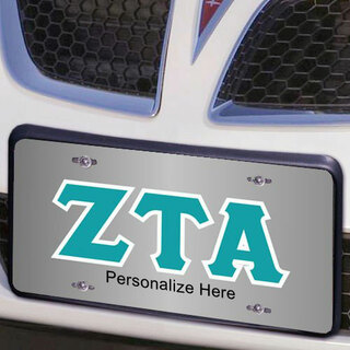 Zeta Tau Alpha Lettered License Cover