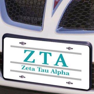 Zeta Tau Alpha Lettered Lines License Cover