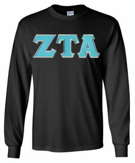Zeta Tau Alpha Lettered Long Sleeve Tee- MADE FAST!