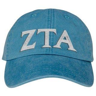 Zeta Tau Alpha Lettered Premium Pastel Hat