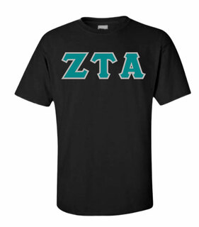 Zeta Tau Alpha Sewn Lettered Shirts
