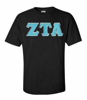 Zeta Tau Alpha Lettered SIM T-shirt - MADE FAST!