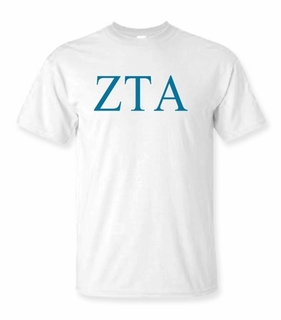 Zeta Tau Alpha Lettered Tee - $9.95! - MADE FAST!