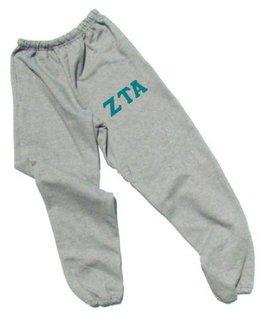 Zeta Tau Alpha Lettered Thigh Sweatpants
