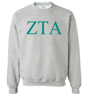Zeta Tau Alpha Lettered World Famous $19.95 Greek Crewneck