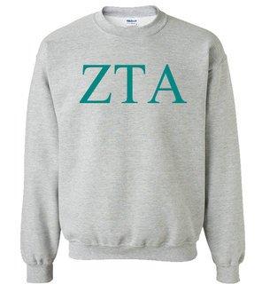Zeta Tau Alpha Lettered World Famous Greek Crewneck